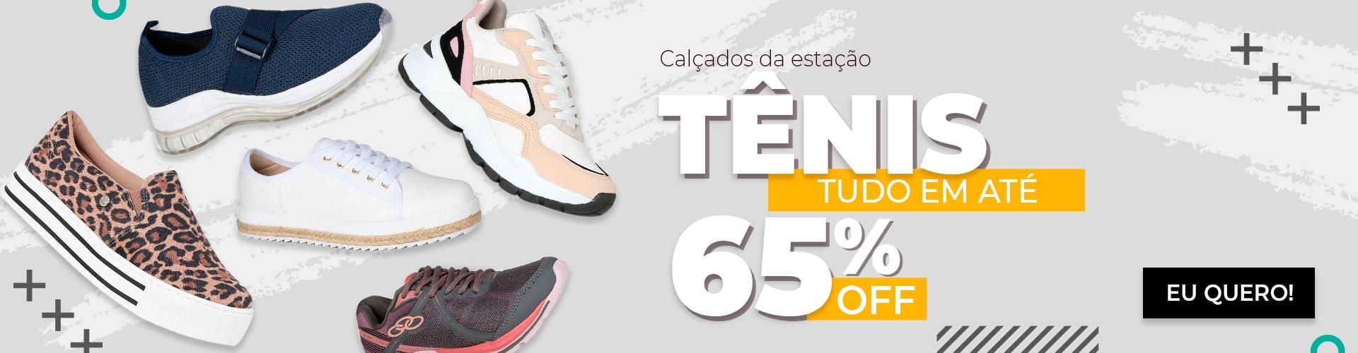 Calçados da estação: Tênis tudo com até 65% OFF