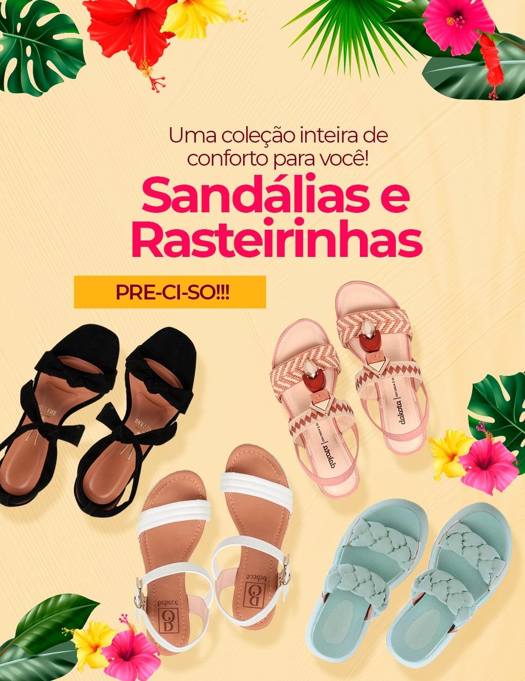 Topo 03: Sandálias e Rasteirinhas