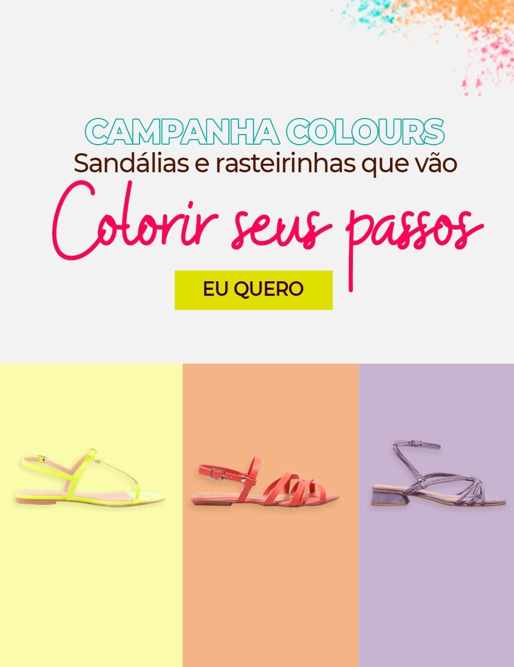 Topo 03: Colours Sandália e Rasteirinha