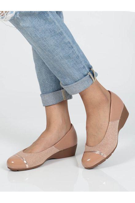 Sapato-Feminino-Anabela-Conforto-Modare-Recortes