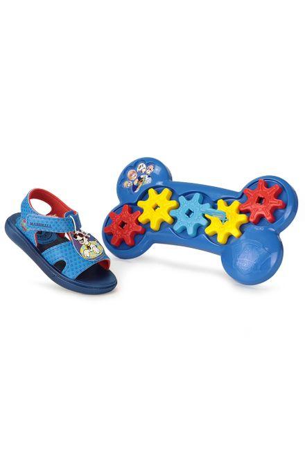 Sandalia-Rasteira-Infantil-Grendene-Patrulha-Canina-Velcro