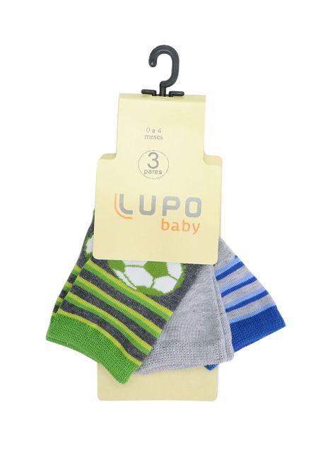 Kit-de-Meia-Infantil-Lupo-com-3-Unidades
