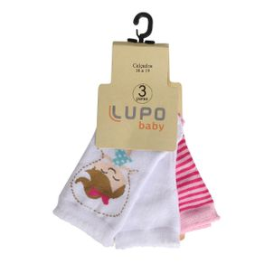 Kit-de-meia-Infantil-Lupo-com-3-unidades-Estampas