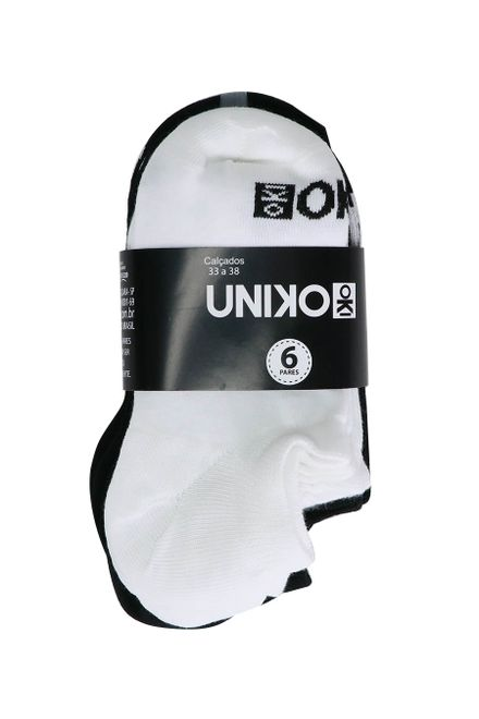 Kit-de-Meia-Invisivel-Feminina-Uniko-com-6-unidades