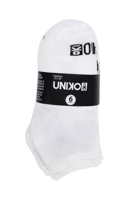 Kit-de-Meia-Soquete-Unissex-Uniko-com-6-Unidades