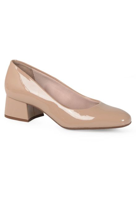 Sapato-Salto-Conforto-Feminino-Beira-Rio-Envernizado
